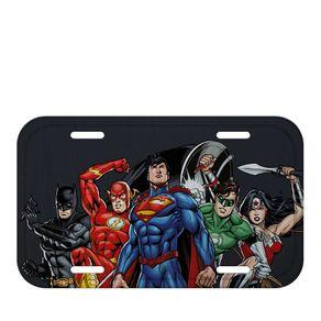 Placa Cinza de Metal Liga da Justiça DC Comics