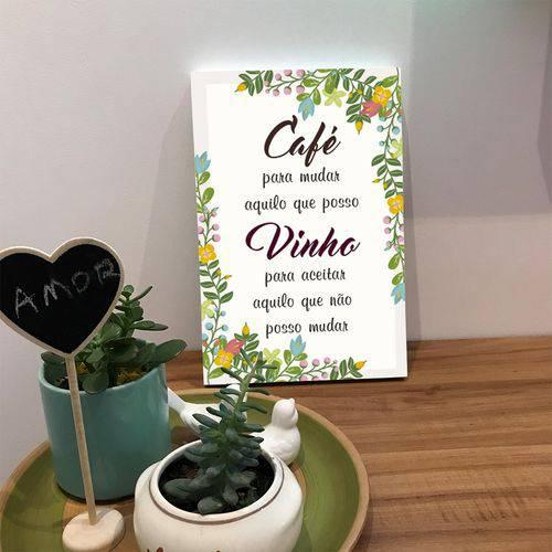 Placa de Bancada Decorativa Café para Mudar Aquilo que Posso