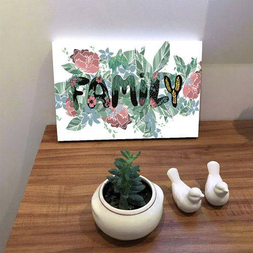 Placa de Bancada Decorativa Family