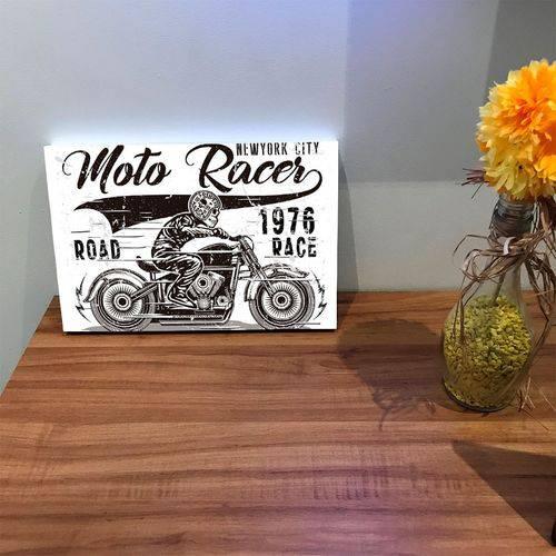 Placa de Bancada Decorativa Moto Race