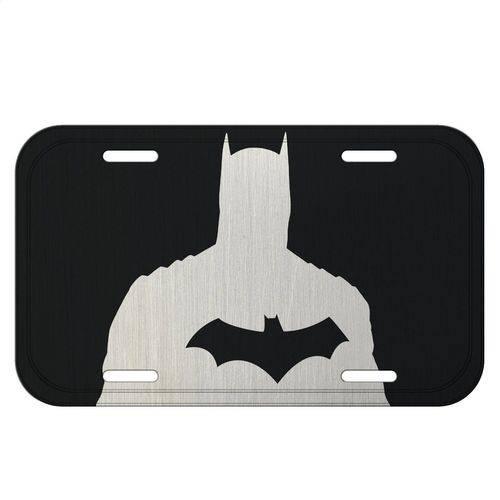 Placa de Carro Decorativa 30cm de Alumínio Batman Liga da Justiça - H41384
