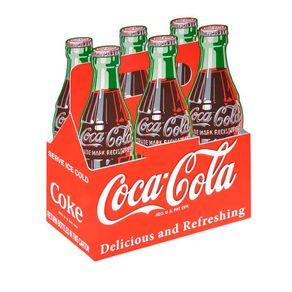 Placa de Madeira 6 Pack Sing Color Coca-Cola