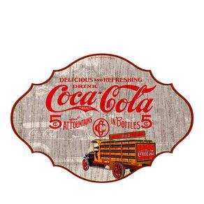 Placa de Madeira Coca-Cola Vintage 5 Centavos