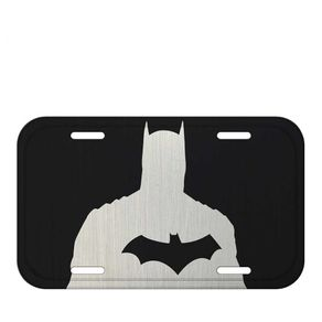 Placa de Metal Batman Sombra DC Comics