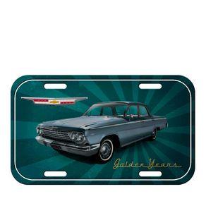 Placa de Metal Carro Golden Years Verde GM Chevrolet
