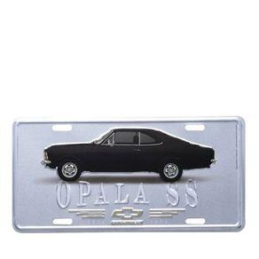 Placa de Metal Carro Opala 1971 Prata GM Chevrolet