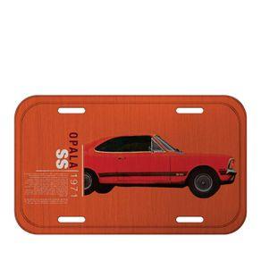 Placa de Metal Carro Opala Laranja GM Chevrolet