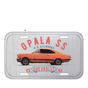 Placa de Metal Carro Opala Prata GM Chevrolet