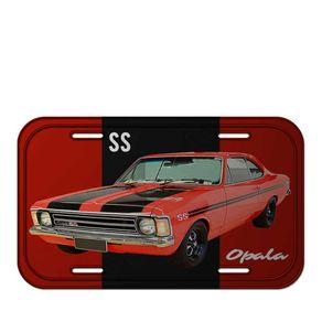 Placa de Metal Carro Opala Vermelho GM Chevrolet