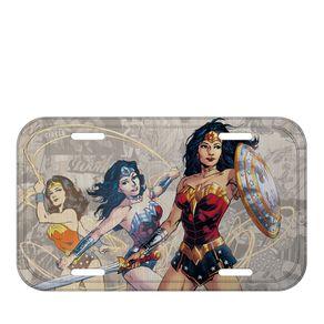 Placa de Metal Mulher Maravilha Fases DC Comics