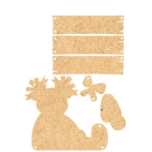 Placa de Porta Mdf Decoupage Menina Dm-064 - Litoarte