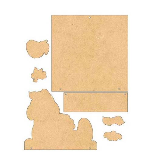 Placa de Porta Mdf Decoupage Menina Dm-027 - Litoarte