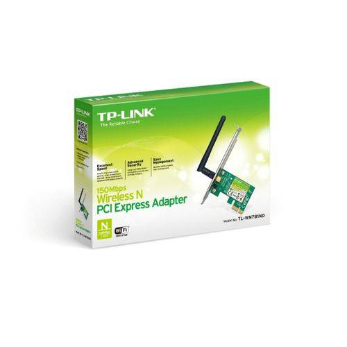 Placa de Rede Wireless Tp-link Pci-exp 150mbps Tl-wn781nd