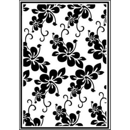 Placa de Textura Emboss 10,6x15 Cm - Modelo Flor Grande