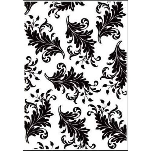 Placa de Textura Emboss 10,6x15 Cm - Modelo Folha Arabesco