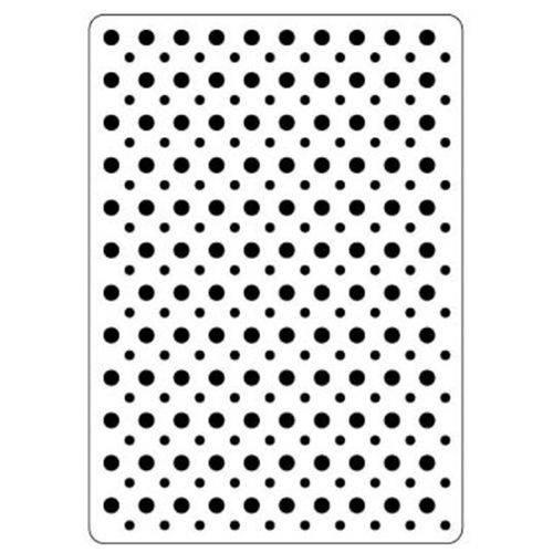 Placa de Textura Emboss 10,6x15 Cm - Modelo Poá / Bolinhas