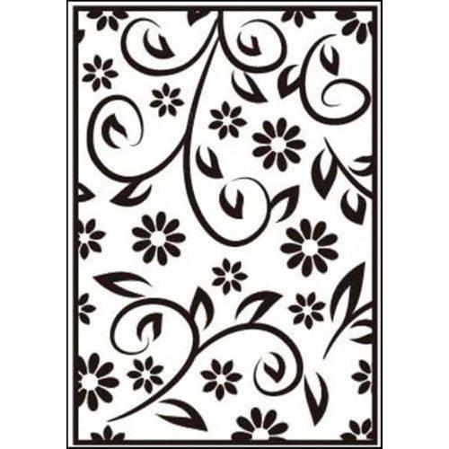 Placa de Textura Emboss 10,6x15 - Modelo Flor de Cabo Longo