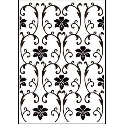 Placa de Textura Emboss 10,6x15cm Modelo Arabesco com Flor
