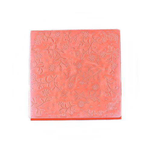 Placa de Textura Emboss 14x14 Cm - Modelo Mini Flor