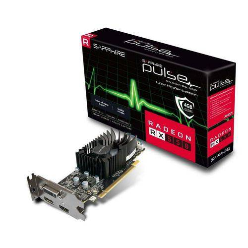Placa de Vídeo AMD Radeon RX 550 4GB GDDR5 11268-17-20G SAPPHIRE
