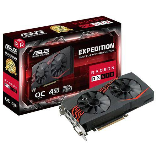 Placa de Video Asus Radeon Rx 570 4GB Expedition Oc GDDR5 256BITS Ex-RX570-O4G