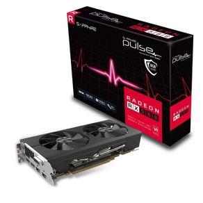 Placa de Vídeo Sapphire 11265-05-20G Radeon Pulse RX 580 8GB OC 256Bits GDDR5 com Blackplate