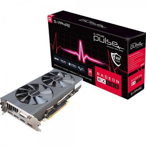 Placa de Video Sapphire Radeon Pulse Oc Rx580 4gb Gddr5 256 Bits - 11265-09-20g