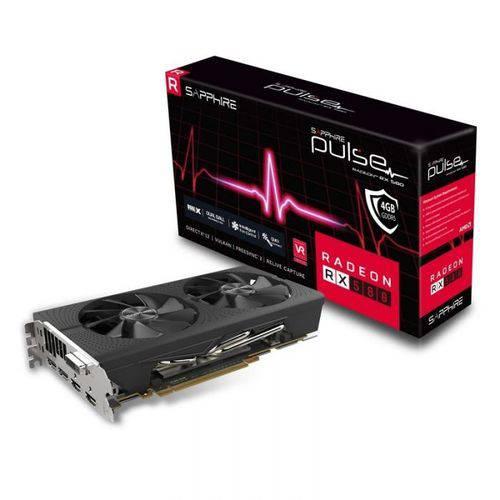 Placa de Video Sapphire Radeon Pulse Rx 580 4gb Oc Gddr5 com Backplate - 11265-09-20g