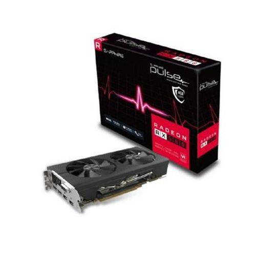 Placa de Video Sapphire Radeon Rx 580 4gb Pulse Ddr5 256bits - 11265-09-20g