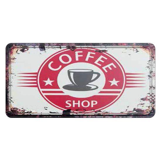 Placa Decorativa 15x30cm Coffee Shop Lpd-051 - Litocart