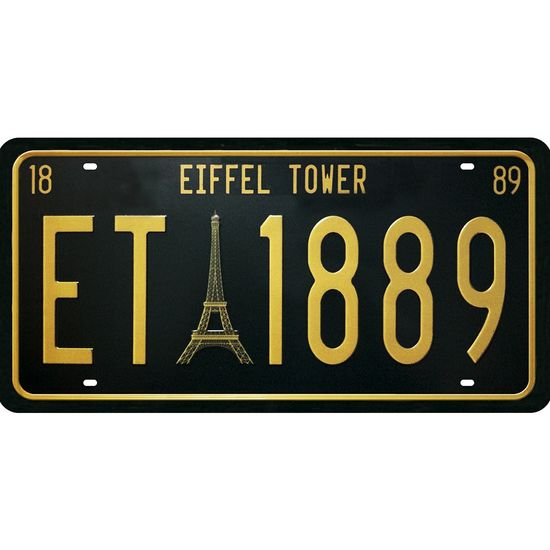 Placa Decorativa 15x30cm Eiffel Tower Lpd-063 - Litocart