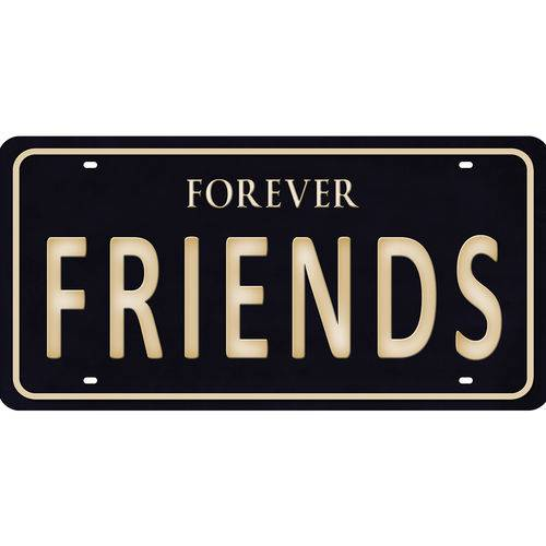 Placa Decorativa 15x30cm Forever Friends Lpd-074 - Litocart