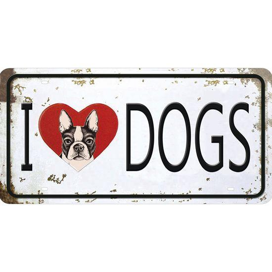 Placa Decorativa 15x30cm I Love Dogs Lpd-056 - Litocart