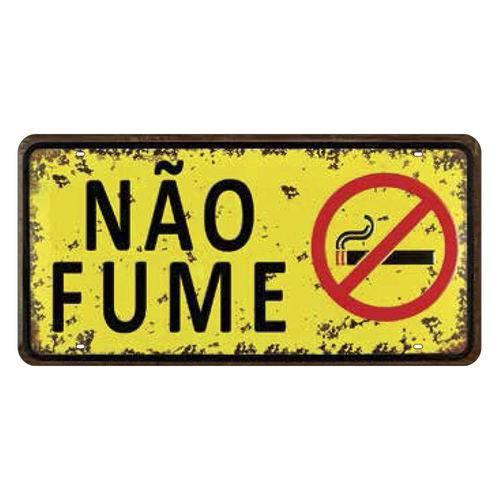 Placa Decorativa 15x30cm não Fume Lpd-032 - Litocart