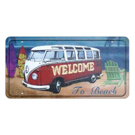 Placa Decorativa 15x30cm Welcome To Beach Lpd-018 - Litocart