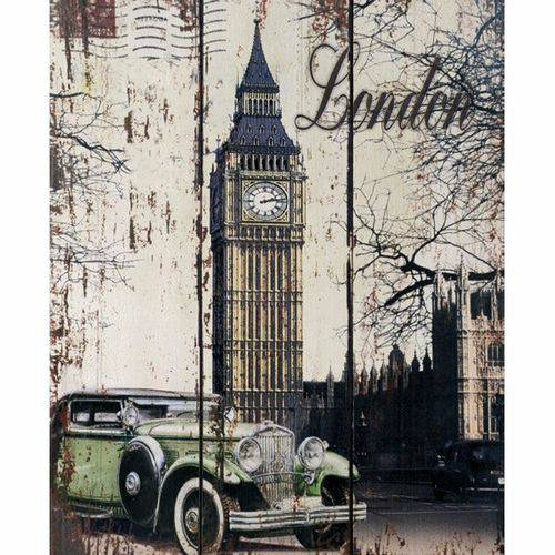 Placa Decorativa 24,5x19,5cm Big Ben London Lpmc-089 - Litocart