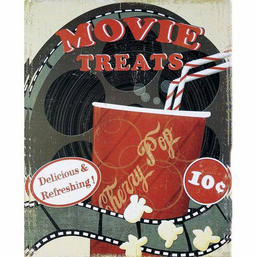 Placa Decorativa 24,5x19,5cm Movie Treats Lpmc-087 - Litocart