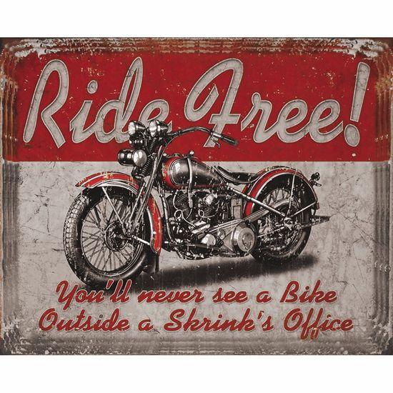 Placa Decorativa 24,5x19,5cm Ride Free! Lpmc-076 - Litocart