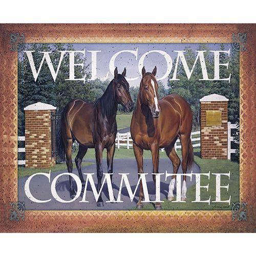 Placa Decorativa 24,5x19,5cm Welcome Commitee Lpmc-105 - Litocart