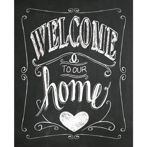 Placa Decorativa 24,5x19,5cm Welcome To Our Home Lpmc-035 - Litocart