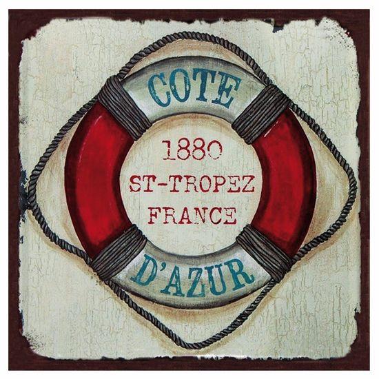 Placa Decorativa 25x25cm Boia Salva-vidas Lpqc-043 - Litocart