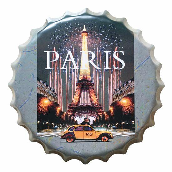 Placa Decorativa 25x25cm Paris LPQC-026 - Litocart