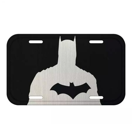 Placa Decorativa Batman Bust Black