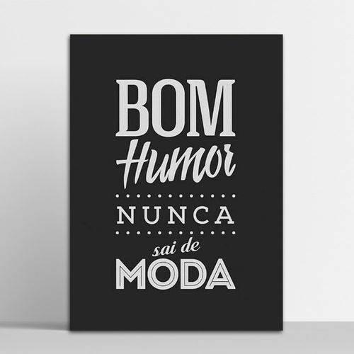 Placa Decorativa Bom Humor 20x30cm