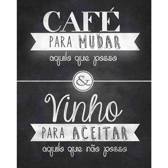 Placa Decorativa Café & Vinho 24x19cm Dhpm-186 - Litoarte