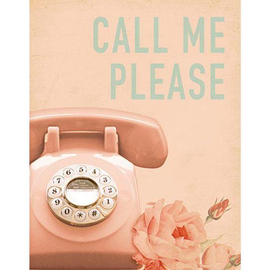 Placa Decorativa Call me Please 24x19cm DHPM-141 - Litoarte