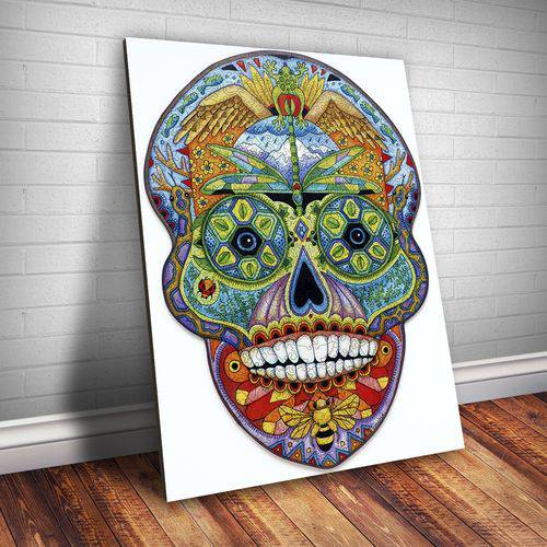 Placa Decorativa Caveira Mexicana 3