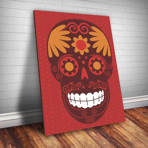 Placa Decorativa Caveira Mexicana 2