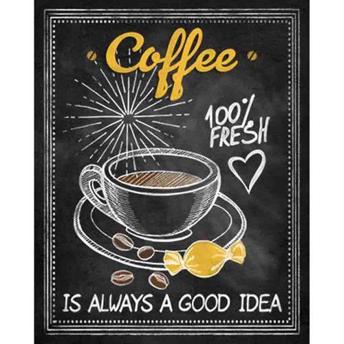 Placa Decorativa Coffee 24x19cm Dhpm-183 - Litoarte