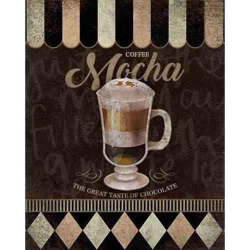 Placa Decorativa Coffee Mocha 24x19cm Dhpm-179 - Litoarte